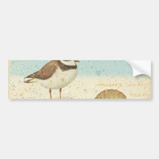 Vintage Beach Scene Bumper Sticker