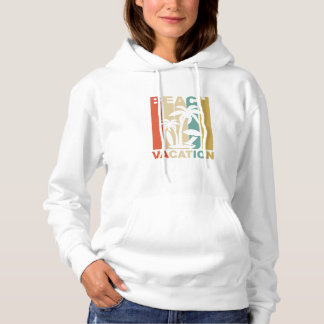 Vintage Beach Vacation Graphic Hoodie