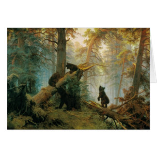 Vintage Bear Cubs by Ivan Shishkin 1889 Card