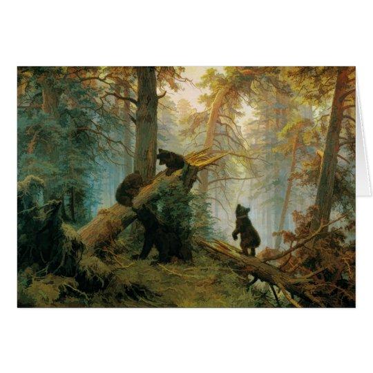 Vintage Bear Cubs by Ivan Shishkin 1889 Card