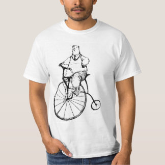 Vintage Bear on Penny Farthing cycle - original T-Shirt