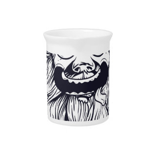 vintage bearded human beverage pitcher