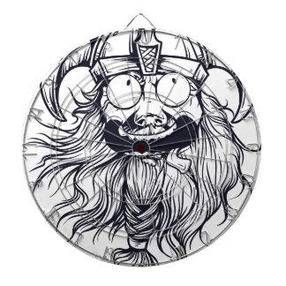 vintage bearded human dartboard