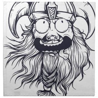 vintage bearded human napkin