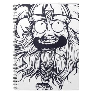 vintage bearded human notebook