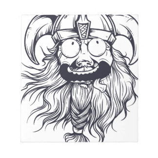 vintage bearded human notepad