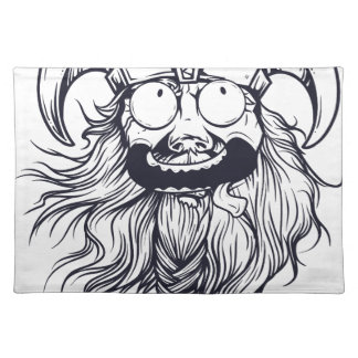 vintage bearded human placemat