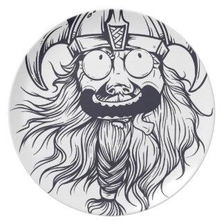 vintage bearded human plate