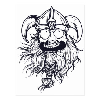 vintage bearded human postcard