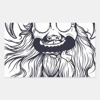 vintage bearded human sticker