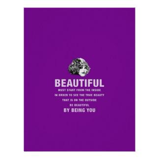 Vintage Beautiful Must Start Purple Letterhead Template