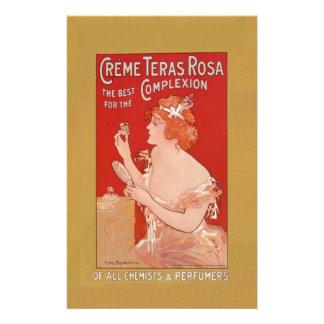Vintage Beauty Advertisement Custom Stationery