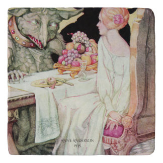 Vintage Beauty and the Beast by Anne Anderson Trivet