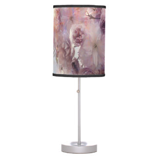 Vintage Beauty Flowers Pink Cherry Blossoms Table Lamp