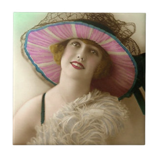 Vintage Beauty Image Tile