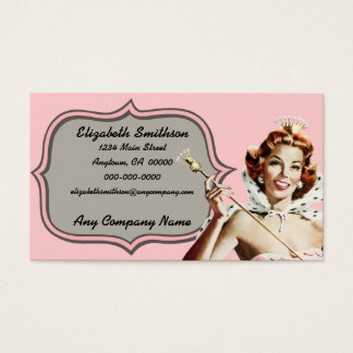 Vintage Beauty Queen Business Card