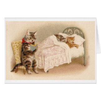 Vintage - Bedtime Story for Kittens, Card
