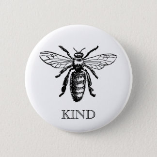 Vintage Bee Be Kind Button