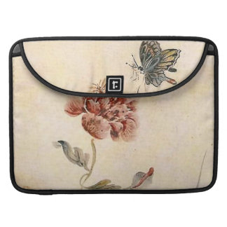 Vintage Bee, Butterfly and Poppy Watercolor Sleeve For MacBook Pro