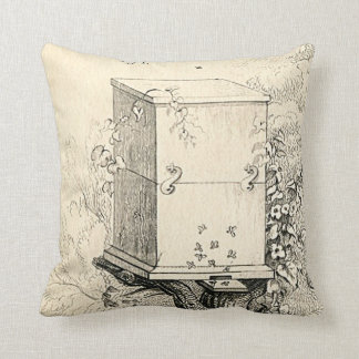 Vintage Bee Hive Pillow