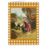 Vintage Bee Little Girl Honey Pot Greeting Cards