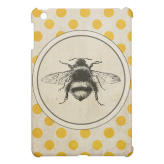 Vintage Bee on Yellow Dots Cover For The iPad Mini