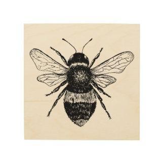 Vintage Bee Wood Art