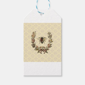 Vintage Bee Wreath Pack Of Gift Tags