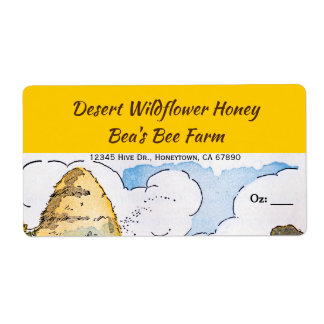 Vintage Beehive Custom Honey Labels