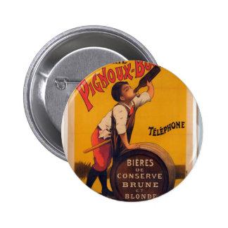 Vintage beer advertising poster Grande brasserie Button