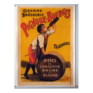 Vintage beer advertising poster Grande brasserie Postcard