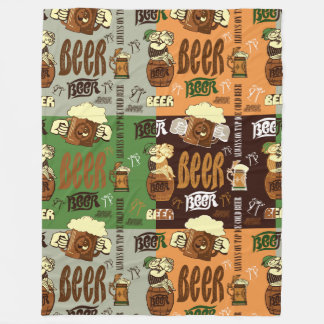 Vintage Beer Fleece Blanket