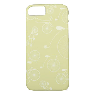 Vintage Beige Day in the Park Bicycle iPhone 7 Case