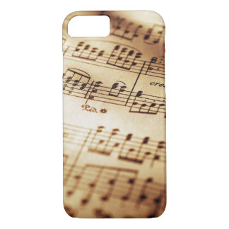 Vintage Beige Music Sheet iPhone 8/7 Cases