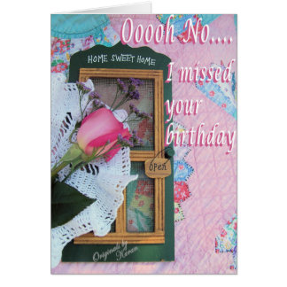 Vintage Belated Birthday  -customize it Card