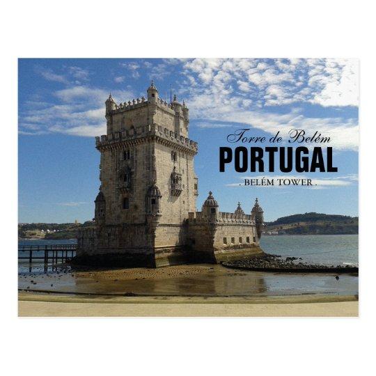 Vintage Belem Tower Silhouette 3 | Torre Belem Postcard