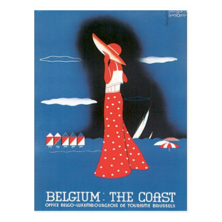 Vintage Belgium The Coast Postcard