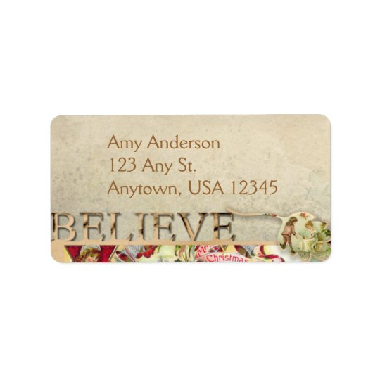"Vintage ""Believe"" Address Labels"