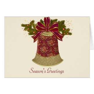 Vintage Bell Holiday Card