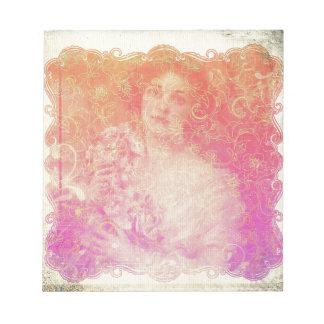 Vintage,belle époque,beautiful lady,victorian,chic notepad