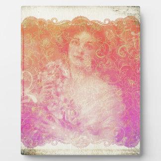 Vintage,belle époque,beautiful lady,victorian,chic plaque