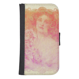 Vintage,belle époque,beautiful lady,victorian,chic samsung s4 wallet case