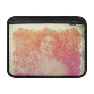 Vintage,belle époque,beautiful lady,victorian,chic sleeve for MacBook air