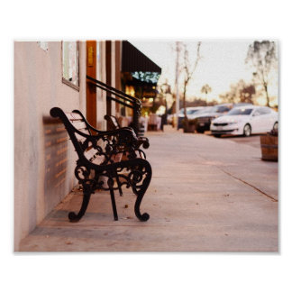 Vintage Bench Downtown Paso Robles Poster