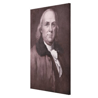 Vintage Benjamin Franklin Portrait Canvas Print