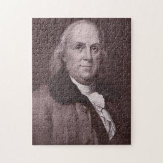 Vintage Benjamin Franklin Portrait Jigsaw Puzzle