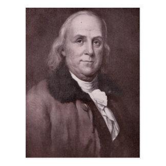 Vintage Benjamin Franklin Portrait Postcard
