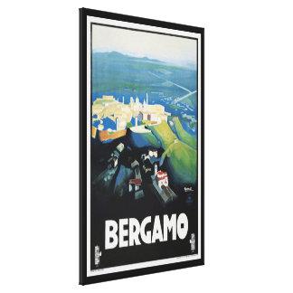 Vintage Bergamo Italy Landscape Travel Print