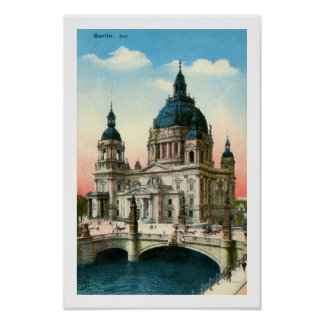 Vintage Berlin Cathedral (Dom) Poster