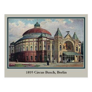 Vintage Berlin Circus Busch building Postcard